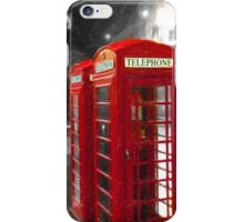 Edinburgh On The Phone - Classic Red British Phone Box iPhone Case/Skin