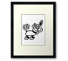 dog funny cute warning Framed Print