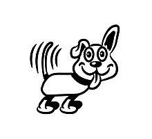 dog funny cute warning Photographic Print