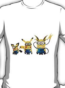 Pichu, Pika and Raichu minion T-Shirt