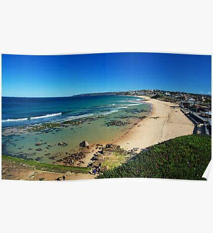 Crystal clear day at Bar Beach Poster