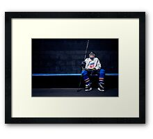 Hockey Strong Framed Print