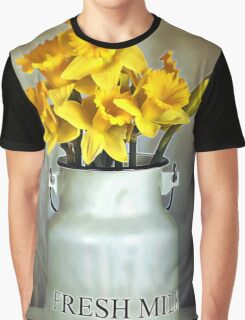 Milk Jug and Daffodils  Graphic T-Shirt