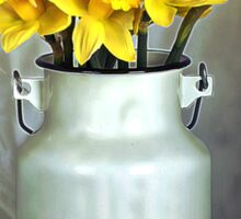 Milk Jug and Daffodils  Sticker