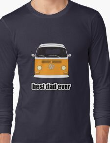 Best Dad Ever Orange Early Bay Long Sleeve T-Shirt