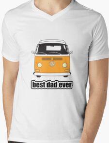 Best Dad Ever Orange Early Bay Mens V-Neck T-Shirt