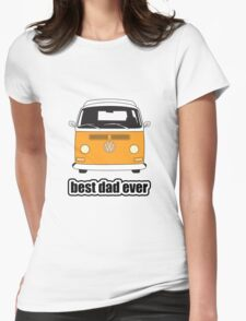 Best Dad Ever Orange Early Bay Womens Fitted T-Shirt