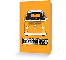 Best Dad Ever Orange Early Bay Greeting Card