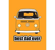 Best Dad Ever Orange Early Bay Photographic Print