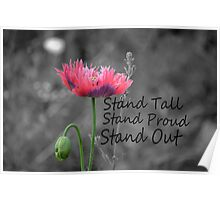 Stand Tall, Stand Proud, Stand Out Poster