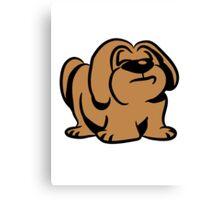 snooty dog Canvas Print