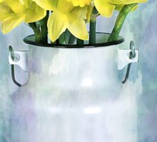 Daffodils and Milk Jug Sticker