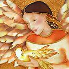 Angel and bird by Krisztina Borody