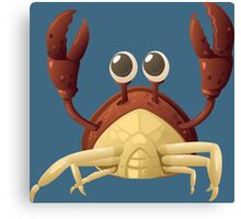 Cancer Red Crab with Claws Raised Canvas Print