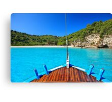 Closer to paradise - Antipaxos island Canvas Print