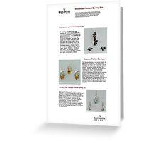 Wholesale Pendant Earring Set Greeting Card