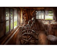 Woodworker - The art of lathing Photographic Print