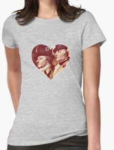 Laurens and Hamilton Love Heart Womens Fitted T-Shirt