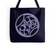 'Bad Wolf' in Gallifreyan - Blue Tote Bag