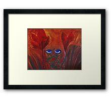 Hidden Lady Crouching Heart Flower Framed Print