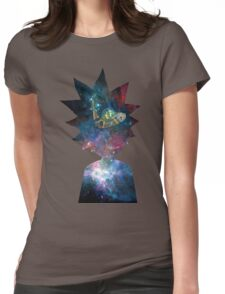 Rick and Morty Space Ship Womens Fitted T-Shirt