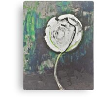 Golden Rose Acrylic Icey Green Canvas Print