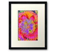 Psychedelic Rhodedendron Framed Print