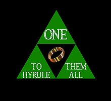 ONE RING TO HYRULE THEM ALL  by karmadesigner