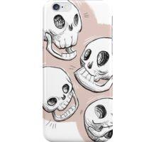 Four Skulls in Pastel Pink iPhone Case/Skin