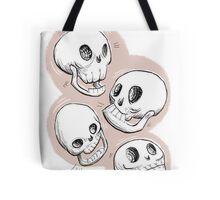 Four Skulls in Pastel Pink Tote Bag