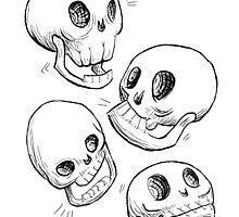 Four Skulls by Foss