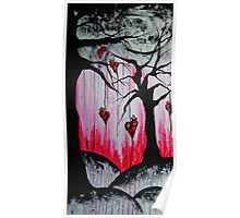 High and Dry Heart Trees Surreal Goth Art Poster