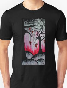 High and Dry Heart Trees Surreal Goth Art Unisex T-Shirt