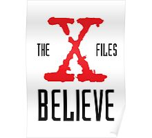 X-Files Believe Poster