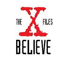 X-Files Believe Photographic Print