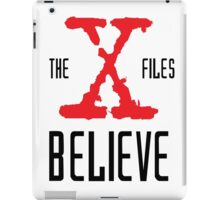 X-Files Believe iPad Case/Skin
