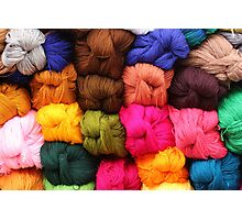 Colorful Yarn at the Market Photographic Print