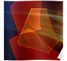 Cut glass in red-orange Poster