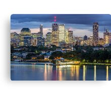 Brisbane and New Farm Park from Bulimba Canvas Print