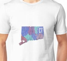 Connecticut- Blue Unisex T-Shirt