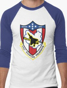 131st Fighter Squadron Emblem ( F-15 ) Men's Baseball ¾ T-Shirt