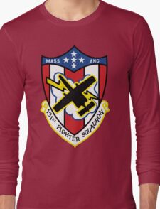131st Fighter Squadron Emblem ( A-10 ) Long Sleeve T-Shirt