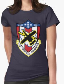 131st Fighter Squadron Emblem ( A-10 ) Womens Fitted T-Shirt