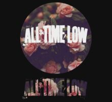 all time low rosy logo 1 (white)  Kids Clothes