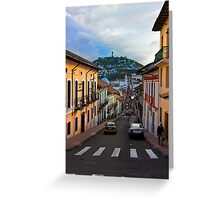 Historic District In Quito, Ecuador Greeting Card