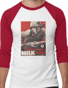 WWII - MORE MILK Men's Baseball ¾ T-Shirt