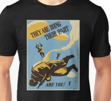 WWII VINTAGE PARATROOPER Unisex T-Shirt