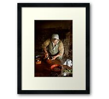 Kitchen - Nothing is better than homemade Framed Print