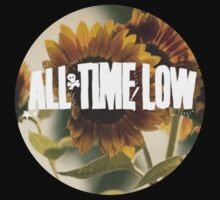 all time low sunflower logo 2 (white) Kids Clothes