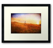 Don't count the days ... Framed Print